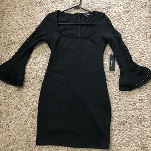 NWT Lulus black lace sleeve dress!